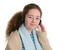 Jugendlich mit Kopfhörern Lizenzfreie Stockfotos
