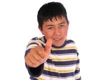 Jugendlich mit Thums oben Lizenzfreie Stockbilder