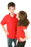 Jugendlich Paar-Argumentierung Lizenzfreie Stockfotos