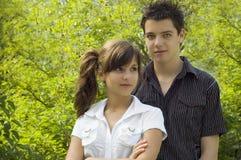Jugendlich Paarlächeln Lizenzfreie Stockfotografie
