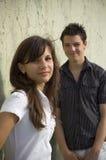 Jugendlich Paarlächeln Lizenzfreie Stockbilder