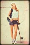 Jugendlich Schlittschuhläufermädchen Stockbild