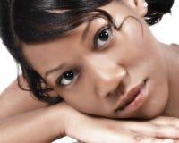 Jugendlich schwarze Frau Lizenzfreies Stockfoto