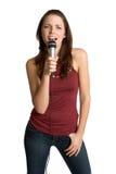Jugendlich singendes Mädchen stockfotografie