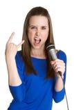 Jugendlich singendes Mädchen Lizenzfreies Stockfoto