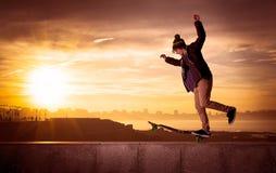 Jugendlich Skateboardfahrer Lizenzfreies Stockfoto