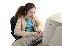 Jugendlich sofortige Nachrichtenübermittlung Lizenzfreies Stockbild