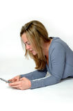 Jugendlich Text-Meldung Stockbilder