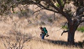 Jugendlich Wandern Stockfoto