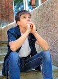 Jugendlichdenken im Freien Stockfotos