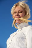 Jugendliche-beißendes Haar Lizenzfreie Stockfotos
