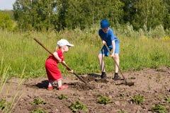 Jugendliche Landwirte. Lizenzfreie Stockfotos