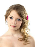 Jugendliche-Portrait/schöne junge Frau Stockfotografie