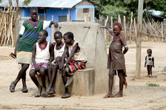 Jugendliche von einem Hamer-Stamm, Äthiopien Stockbild