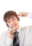 Jugendlicher im Kopfhörer Lizenzfreies Stockfoto