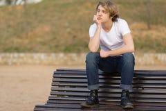 Jugendlicher mit Charakter in Girona, Spanien stockfotografie