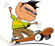 Jugendlicher mit einem Skateboard lizenzfreie abbildung