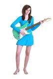 Jugendlicher mit Gitarre Stockbilder
