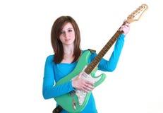 Jugendlicher mit Gitarre Lizenzfreie Stockbilder