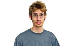Jugendlicher mit Gläsern Stockfotos