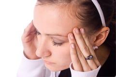 Jugendlicher mit Kopfschmerzen lizenzfreies stockfoto