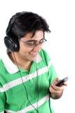 Jugendlicher MP3 Stockbild
