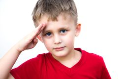 Jugendlicher Soldat Stockfotografie