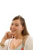 Jugendliches kaukasisches Mädchen Lizenzfreies Stockfoto