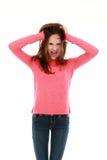 Jugendliches Mädchenschreien Stockbilder