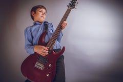Jugendlichjunge 10 Jahre Wert des europäischen Auftrittes Lizenzfreies Stockfoto