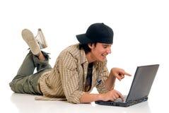 Jugendlichjungenkursteilnehmer Lizenzfreies Stockfoto