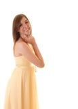 Jugendlichmädchen im Profil. Stockbild