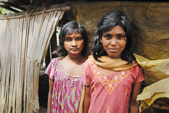 Jugendlichmädchen in Indien. Stockfotos