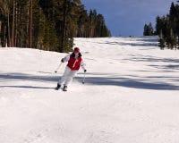 Jugendlichmädchen-Skifahrer Stockbild