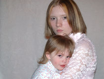 Jugendmutter/Schwestern Lizenzfreie Stockfotografie