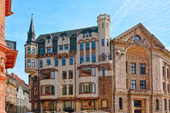 Jugendstil architecture royalty free stock photos