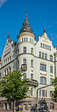 Jugendstil architecture. Building in medieval town of Helsinki, Finland stock image