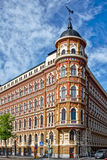 Jugendstil architecture. Building in medieval town of Helsinki, Finland stock photo