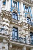 Jugendstil Building in Riga Alberta Street Royalty Free Stock Photos