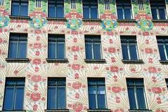 Jugendstil Fassade in Wien Lizenzfreies Stockbild