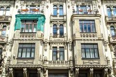 Jugendstil-Gebäude in Riga Alberta Street Stockbilder