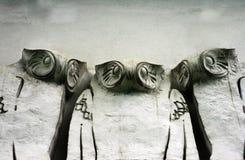 Jugendstil Grunge Owls Royalty Free Stock Image