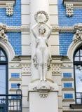 Jugendstil house in Riga, Latvia Stock Photography