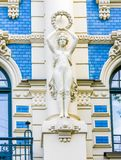 Jugendstil house in Riga, Latvia. Detail at a famous Jugendstil house in the Alberta street in Riga, Latvia stock image