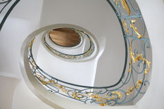 Jugendstil staircase. Beautiful european staircase in jugendstil design stock image