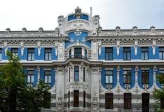 Jugendstilbezirk in Riga, Lettland lizenzfreies stockbild