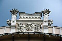 Jugendstilbezirk in Riga, Lettland stockfoto