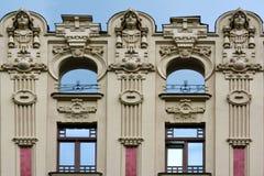 Jugendstilbezirk in Riga, Lettland stockfotos