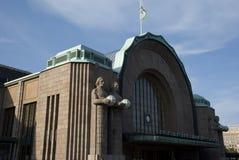 Jugendstildrevstation i Helsingfors, Finland Arkivbilder