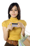 Juger par la carte de crédit Image libre de droits